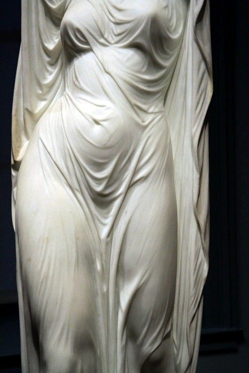 "Marble - Just look at the way this ""fabric"" drapes the body of this statue...marble, it's hard to believe it looks as if it would move with the slightest breeze"