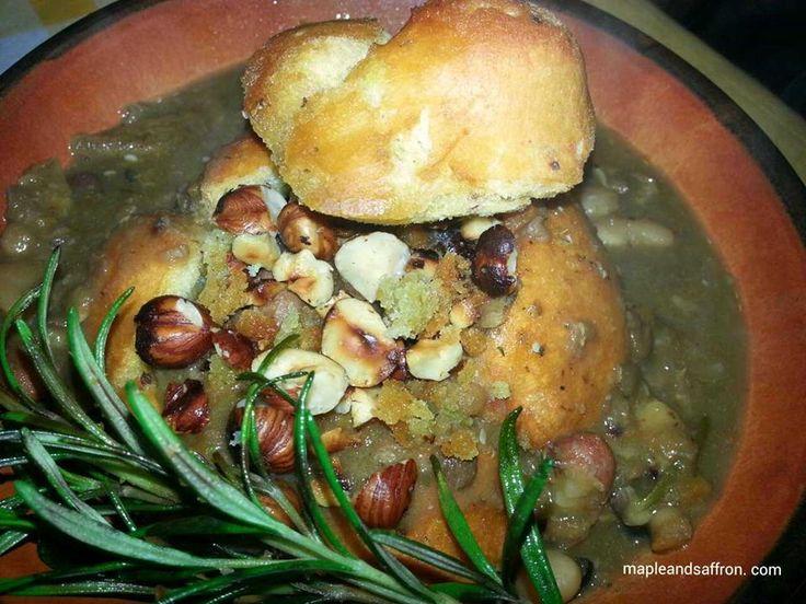 Bean and mushroom soup!