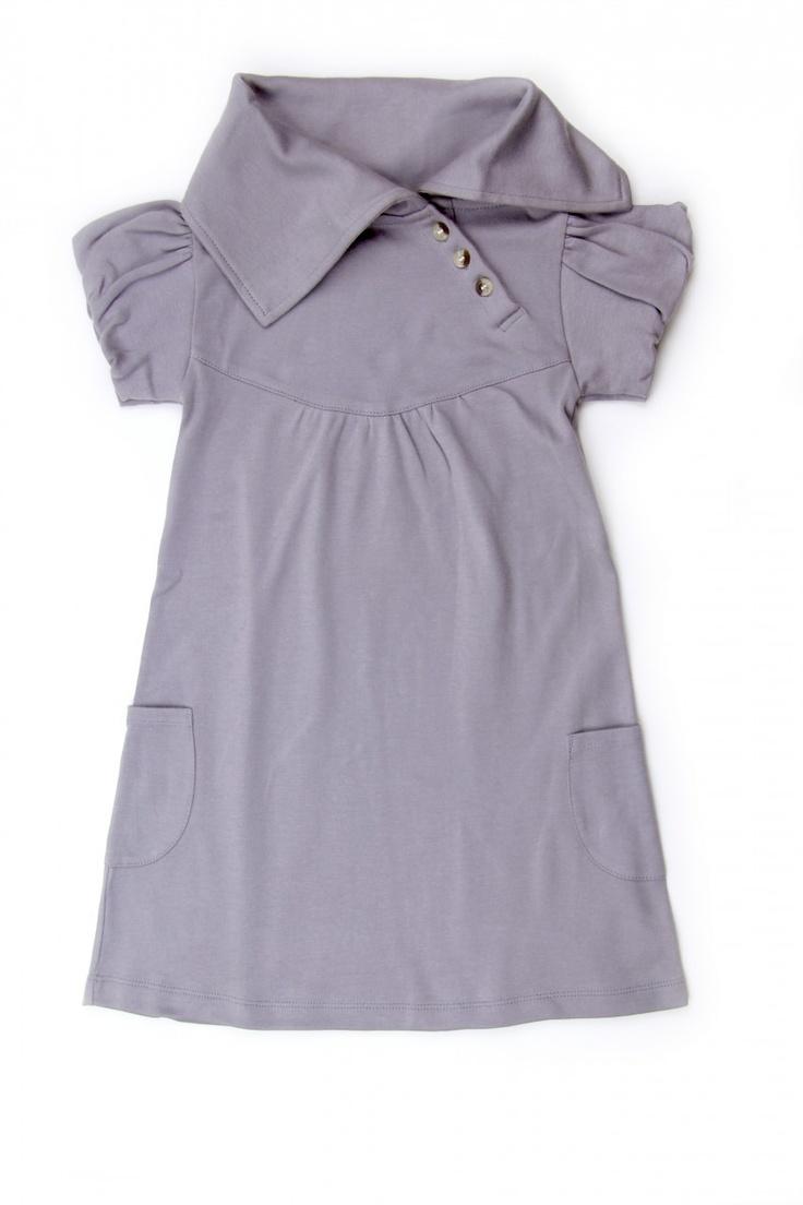short sleeve lounge dress | slate - kate quinn organics