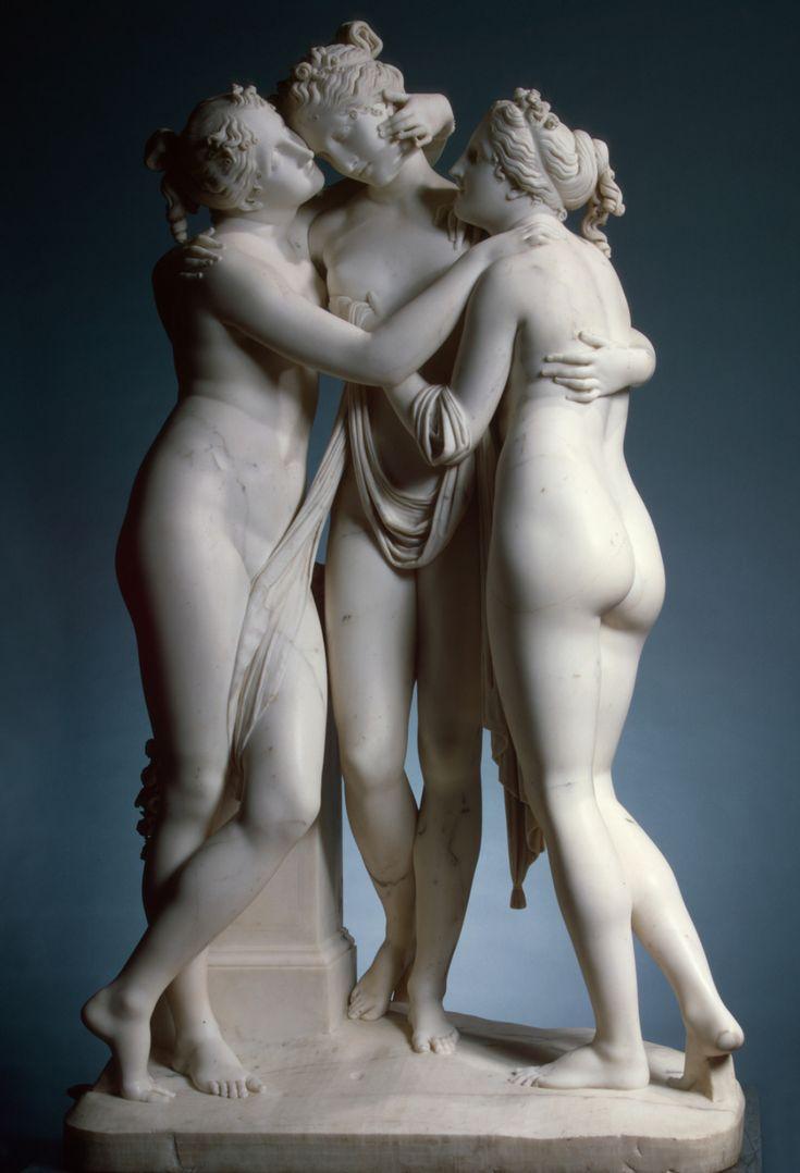 Las tres Gracias -Antonio Canova 1817. Mármol - Museo Hermitage H. 173 cm, L…