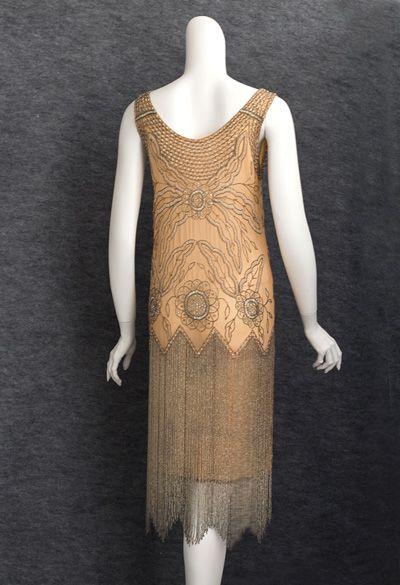 1920s beaded flapper dress