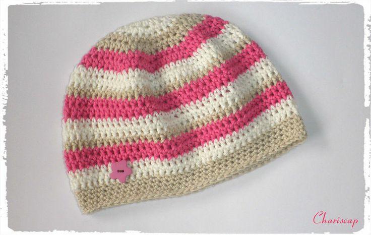 Babymütze, Erstlingsmütze , aus Baumwolle   von Chariscap auf DaWanda.com
