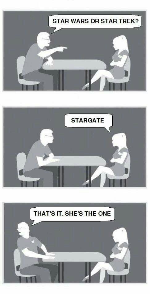 Star Trek or Star Wars!? Stargate!
