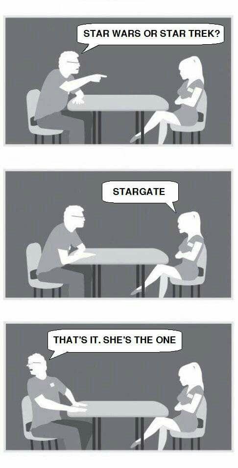 Star Trek or Star Wars!? Stargate!