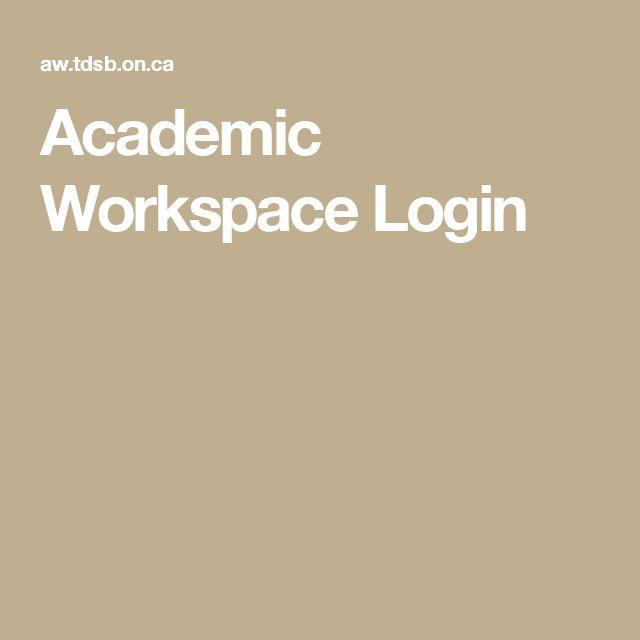 Academic Workspace Login