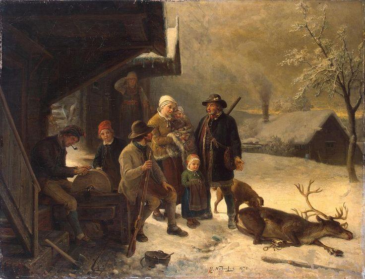 File:Dead Stag 1878 Bengt Nordenberg. Mora, Dalarna.