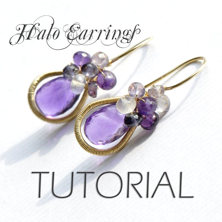 Jewelry Tutorial - Earrings  oOo The Halo Earrings oOo  Emily Gray -  Wirework Jewelry Making. $25.00, via Etsy.