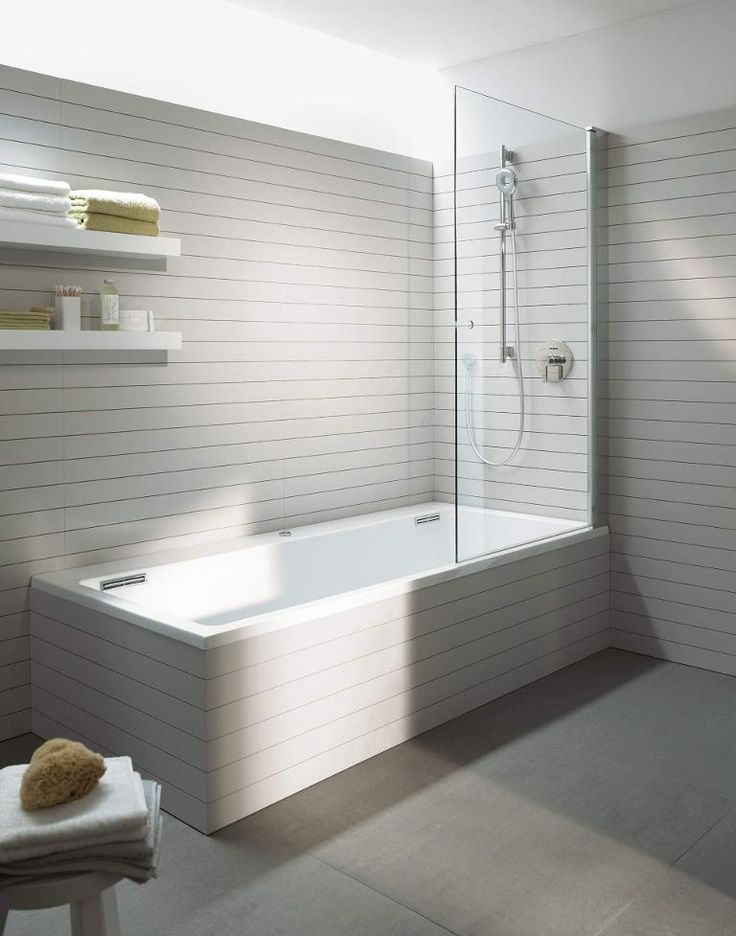 Dusche Neben Badewanne Abtrennung : Built in Bathtub with Shower