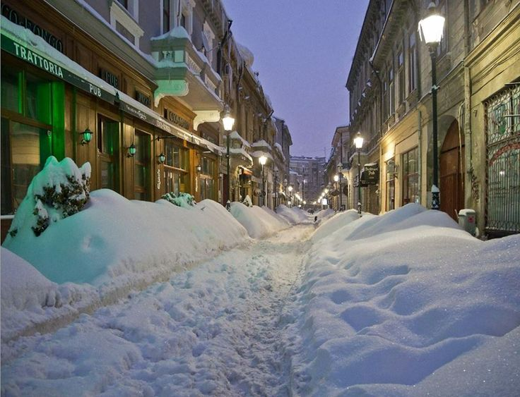 And winter came! Photo: Bucharest!