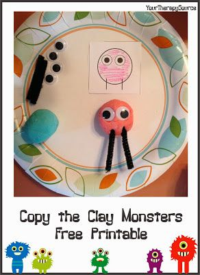 Copy the Clay Monsters  - Pinned by @PediaStaff – Please Visit ht.ly/63sNtfor all our pediatric therapy pins
