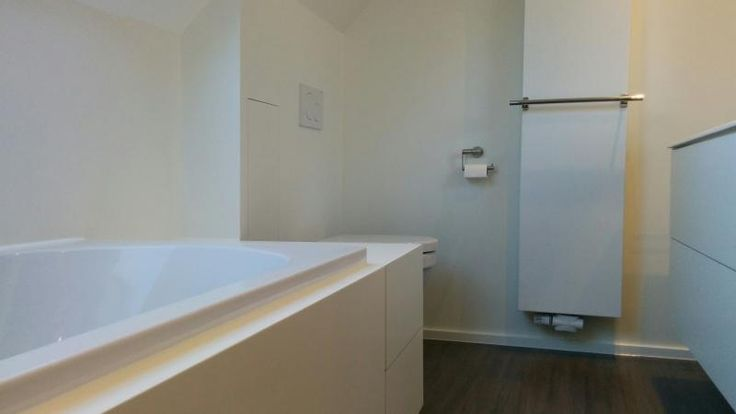 Made-to-measure furniture for small bathroom. #white #bathroom #renovation #construction