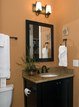 Orange Bathroom Design, Pictures, Remodel, Decor and Ideas - page 12