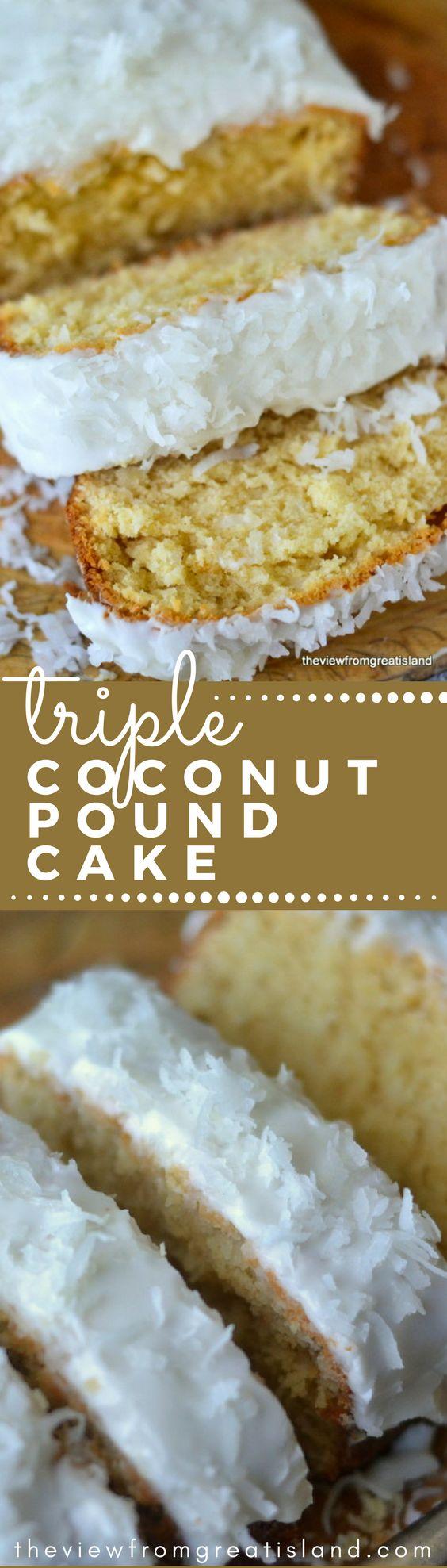 Triple Coconut Pound Cake