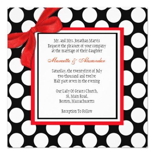 New 245 best Polka Dot Wedding Invitations images on Pinterest | Dots  HA13