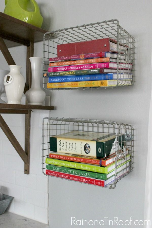 Store your cookbooks in an unconventional way. 10+ Kitchen Ideas: Decorating, Organizing, Storage