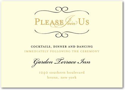 Wedding Reception Card Wording