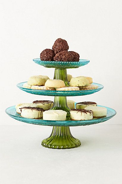Color Blocked Cake Stand #anthropologie