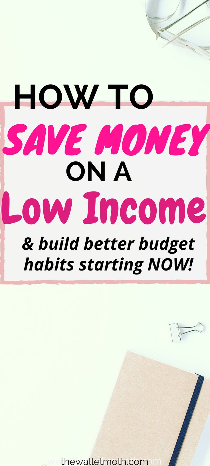 This post contains EVERY tip you need to know on how to save money on a low income. Find out how to budget better and save more money every month with these great tips! Thanks for pinning!