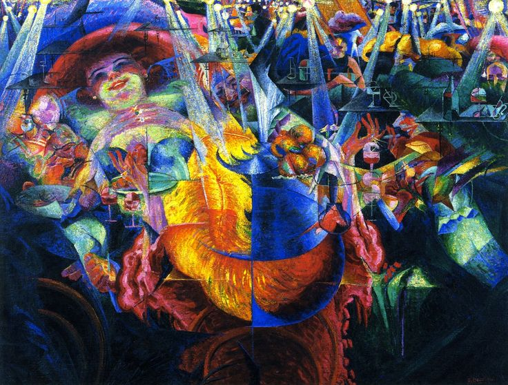 "Umberto Boccioni ""The Laugh"" 1911 Oil on canvas, Museum of Modern Art, New York"