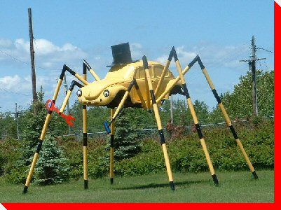 """Spider-Bug, Spider-bug. Does whatever a Spider-Bug does."" Outside of Kenora.  #giloveontario"