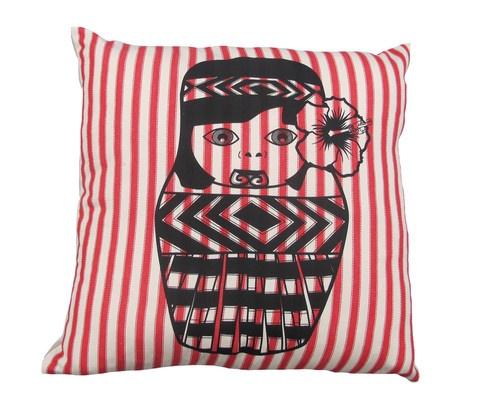 Maori Girl Cushion 450mm x 450mm by Tantrum Design