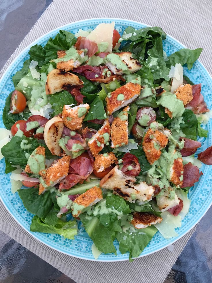"""I thought I loved caesar salads …until I tried this one, and it hands downbeatsevery other caesar salad in the world. This recipe is from one of my favourite cookbooks """"Jamie's …"""
