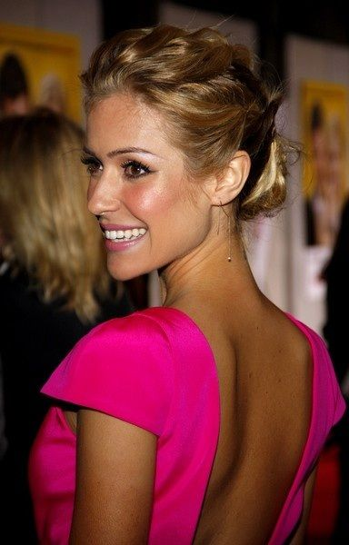 her makeup and hair is flawless!: Pink Summer, Girls Crushes, Hair Colors, Pink Dresses, Summer Hair, Kristin Cavallari, Hot Pink, Hair Style, Open Back