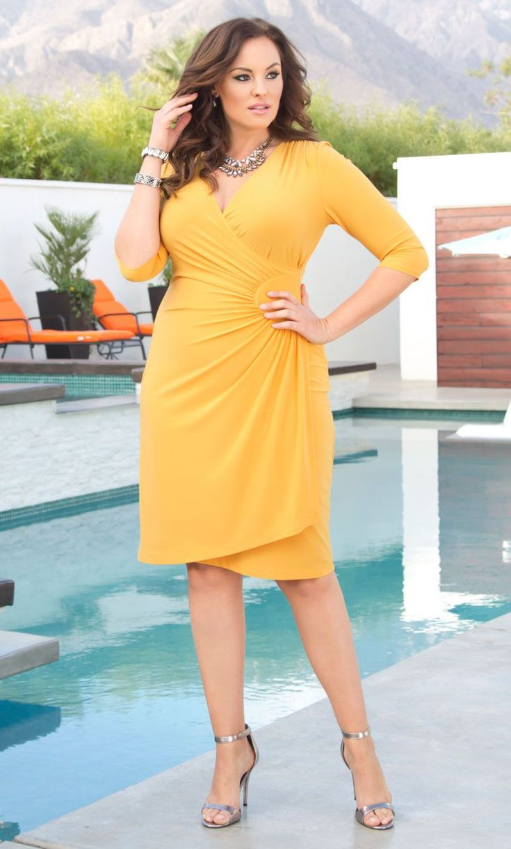 Yellow lovers, here's your dress! | Dresses, Curvy fashion, Plus size dresses
