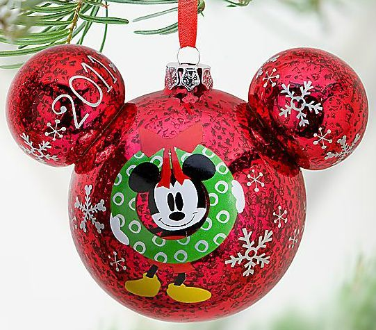 Disney's Icon Minnie and Mickey Mouse Christmas Ornament