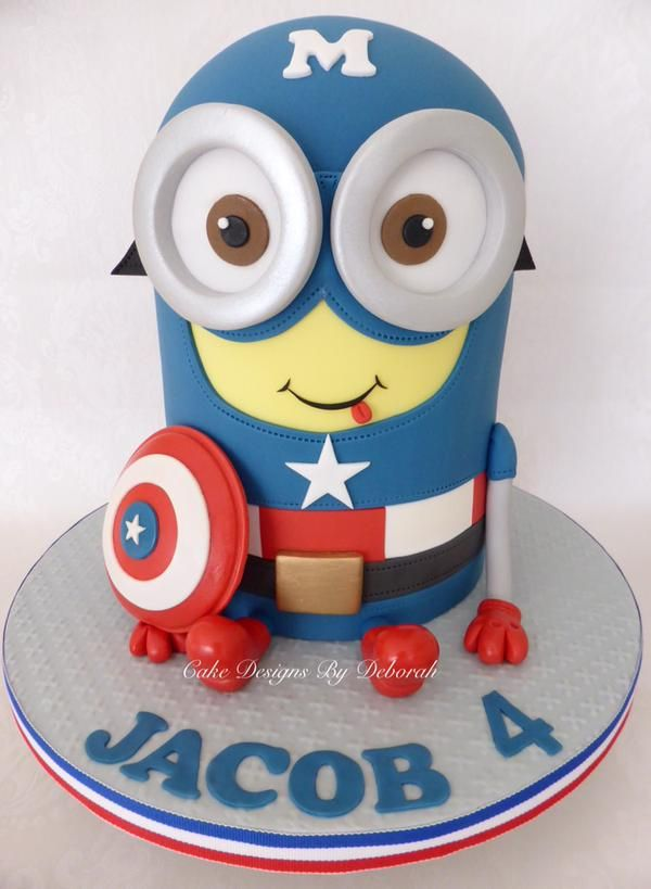 Minion super hero cakes - Google Search