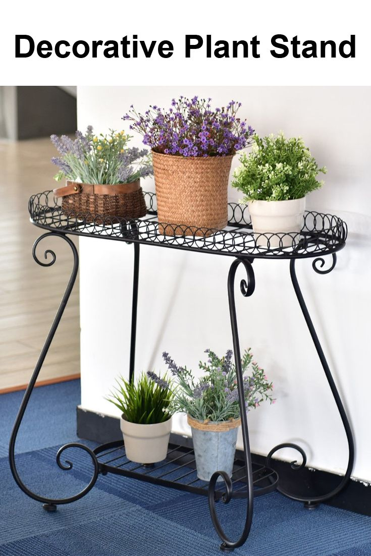 Metal stand flower pot plant holder display rack this our brand new 2 tiers flower plant display stand rackthis charming steel flower plant stand adopt