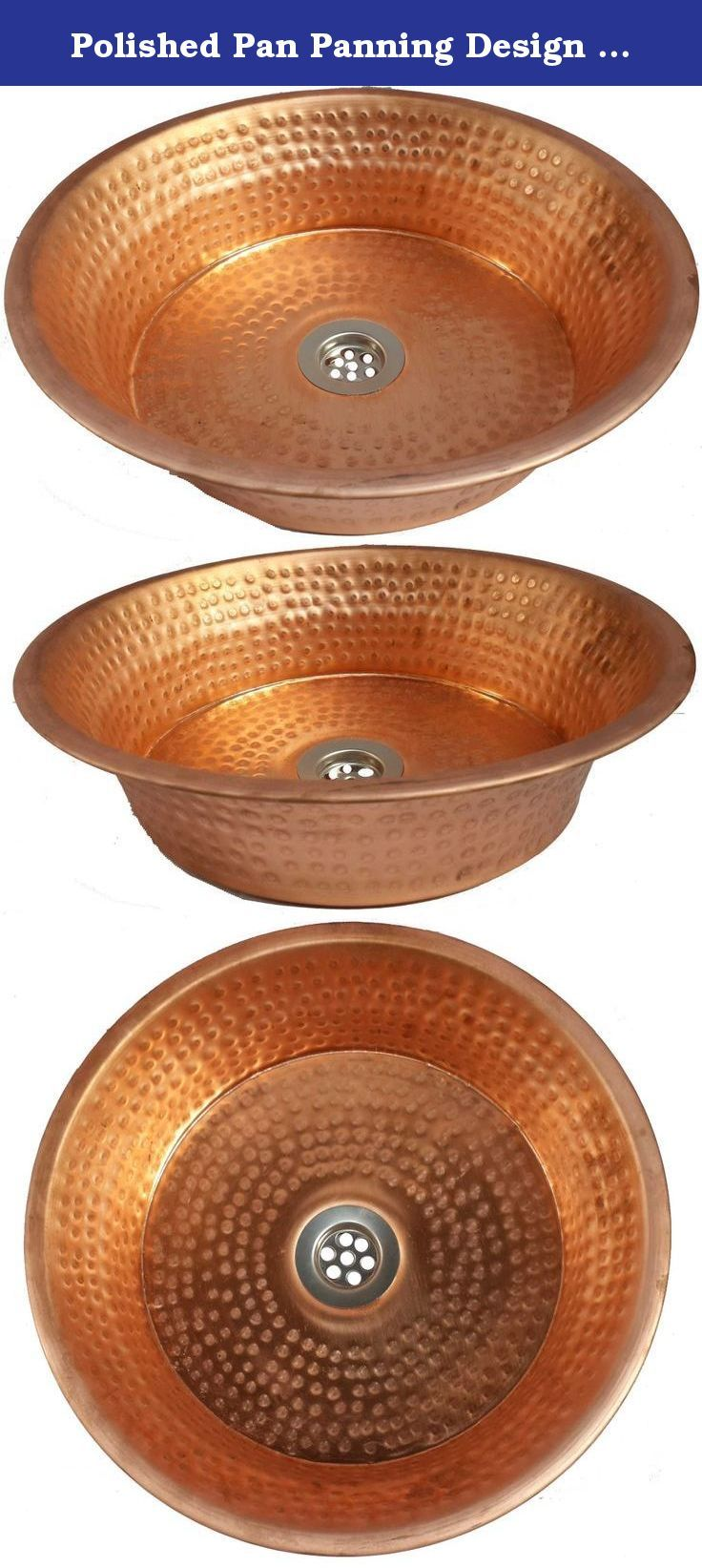 Polished Pan Panning Design Mediterranean Coppersmith Hand Hammered Pure Copper Toilet Bathroom Sink Lavatory Basin by Egypt gift shops. Hand hammered by Egyptian artisans from pure copper. Rolled Edge. Anti bacteria, microbes or viruses. No Lacquer. Easy maintenance. Due to the Artisan Crafted nature of our copper bowls, dimensions may slightly vary.