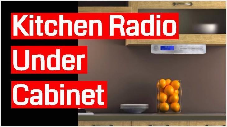 678 Under Cabinet Kitchen Radios Ideas