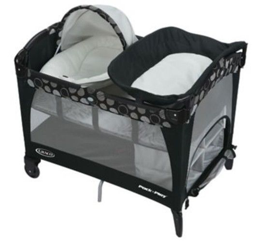 Graco Pack n Play Playard with Newborn Napper LX  Milan Baby Bed Playpen