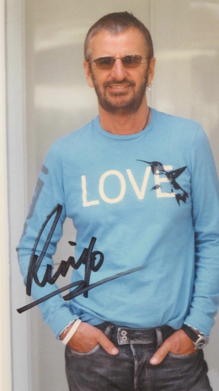 The Beatles Ringo Starr/ Hand Signed Autograph Picture Photo