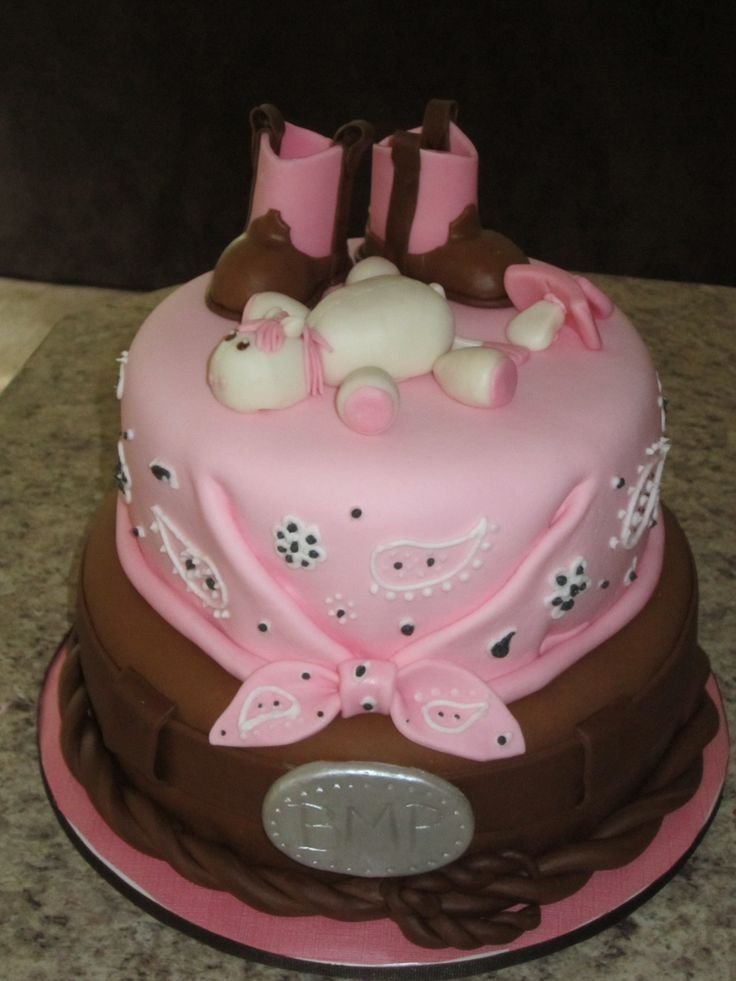 cowgirl baby shower cake ideas
