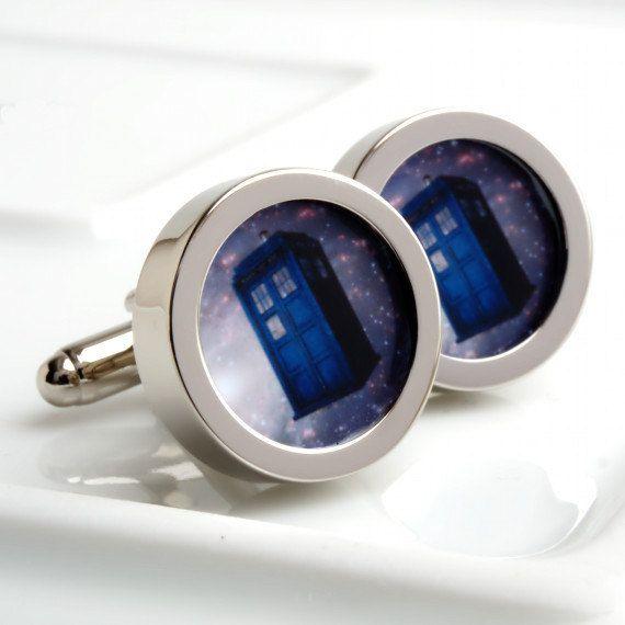 Tardis Cufflinks  Doctor Who's Transportation  by urbaneye on Etsy, £22.99