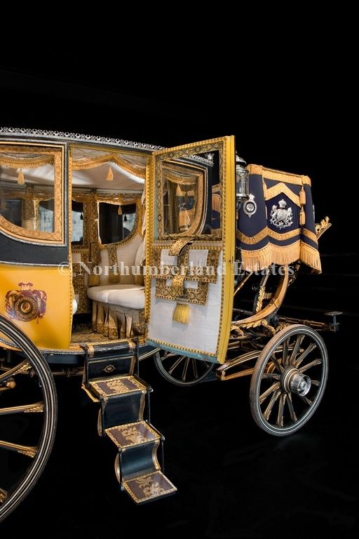 "Lady Adelaide's ""top-of-the-line"" carriages might have resembled this coach that belonged to the 3rd Duke of Northumberland."