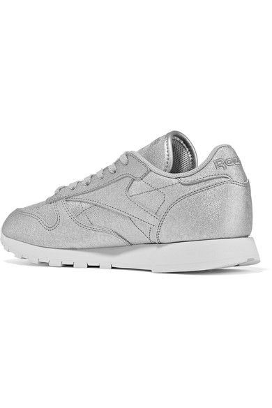 Reebok - Classic Metallic Leather Sneakers - Silver - US9.5