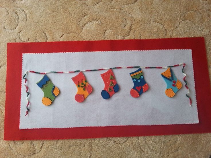 Christmas Felt Craft Ideas Part - 46: Idea: Stockings