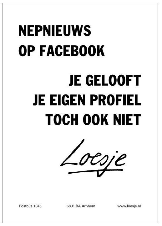 Nepnieuws op Facebook