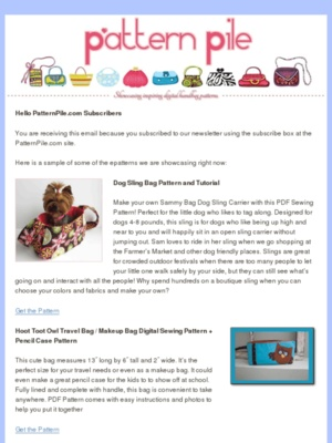 Check out this today's newsletter sent to all PatternPile.com subscribers!  #sewing