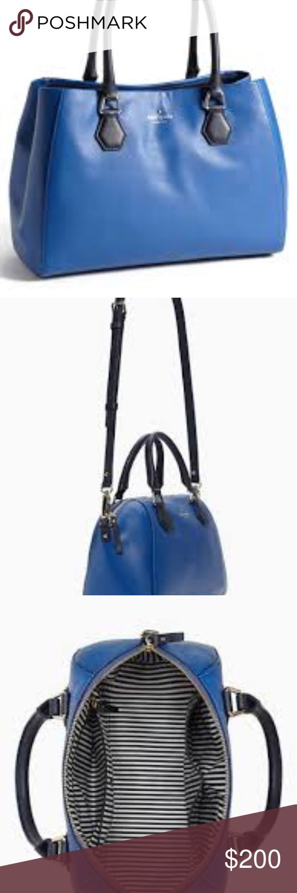 Kate Spade Catherine Street Bluebell This bad is crafted in a luxe leather, this handbag features an adjustable shoulder strap and a zipper closure to keep your essentials and on-the-go accoutrements safely stowed. It is lightly used but in great condition! kate spade Bags