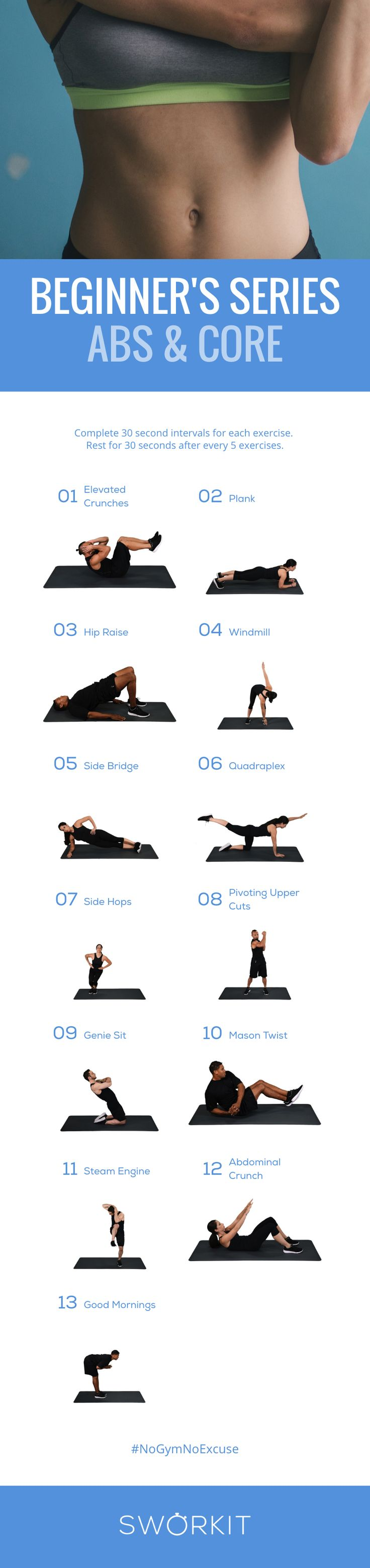 A low intensity workout for abs and core. Sworkit provides personalized video workouts that fit your life. Try this workout on iOS and Android today. Never get bored, never have an excuse.
