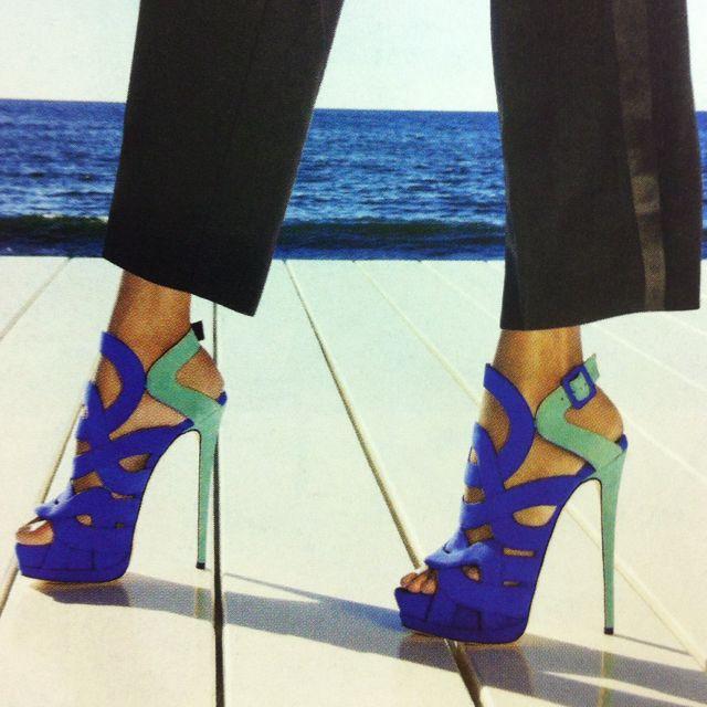 Giuseppe Zanotti: Giuseppezanotti, Fashion, Giuseppe Zanotti, Green Heels, Blue Green, Linens Pants, Ocean Color, Shoes High Heels, Shoes Shoes
