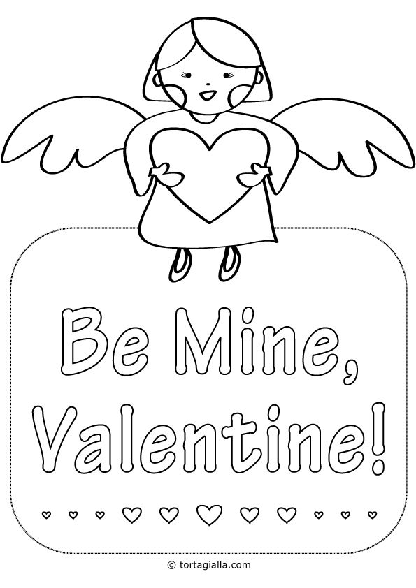 valentine coloring pages be mine - photo #10