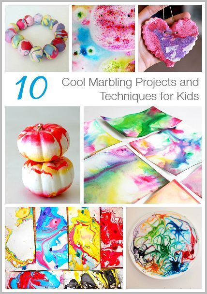 Cool ways to marble paper, dough, and more! (10 Cool Marbling Techniques and Projects for Kids~ on BuggyandBuddy.com)