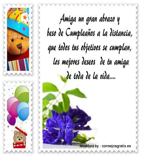 textos de cumpleaños para enviar por Whatsapp,postales de cumpleaños para enviar por Whatsapp: http://www.consejosgratis.es/frases-de-cumpleanos-en-la-distancia/                                                                                                                                                                                 Más