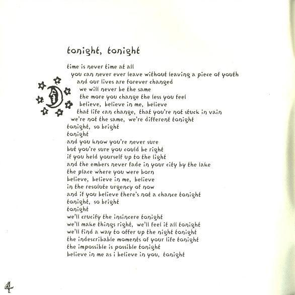 Lyrics for tonight by smashing pumpkins