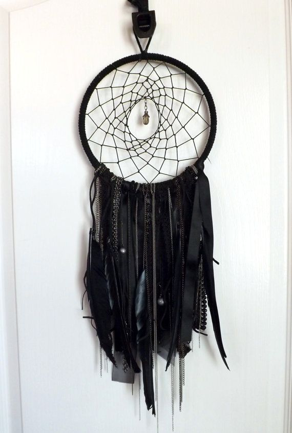 So making one of these for my room ! Black Beautiful Gothic Dreamcatcher Punk…